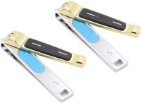 DOCOSS Pack Of 2-Quality Gold Nail Clippers Toe Nails & Fingernail Cutter With Filer For Men Women-27
