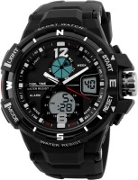 Oxhox Analog-Digital Multi function Ox Skmei ( BLK-SLV ) Watch  - For Men