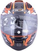 sol SL68S Motorbike Helmet(Orange, Silver)