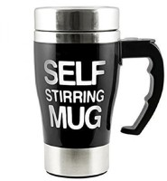 Online World Coffee Mixing Cup Self Stirring Coffee Mug - Colour May Vary 15 Cups Coffee Maker(Black)
