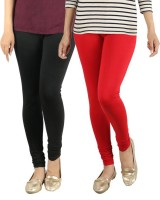NGT Churidar Legging(Black, Red, Solid)