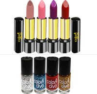 Color Diva Triple Action 4 Lipstick & 4 Nail Paint(Pack of 8) - Price 249 80 % Off