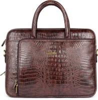 The Clownfish Crocodilan Laptop briefcase Medium Briefcase - For Men & Women(Rust)