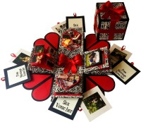 Crack of Dawn Crafts Black Text Keepsake(Black, Red)