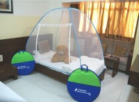 Classic Polyester Adults Net Single bed Mosquito Net(Blue)