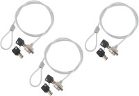 ReTrack SET OF 3PC Notebook and Laptop Number Security-Cable-Lock with Two Keys(Silver)