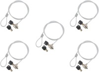 ReTrack SET OF 5PC Notebook and Laptop Number Security-Cable-Lock with Two Keys(Silver)