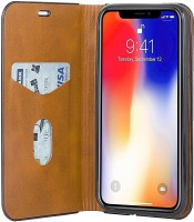 Parallel Universe Flip Cover for Apple iPhone X(Brown)