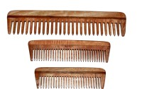 BLITHE PACK OF 3 WIDE TOOTH DETANGLER & POCKET NEEM WOOD COMBS - Price 240 81 % Off