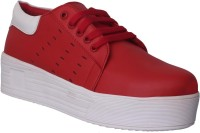 1 WALK 1 WALK MAPPLE COLLECTION ORIGINAL COMFORTABLE STYLISH WOMEN SHOES /SNEAKERS/COLLEGE WEAR/2018 LATEST COLLECTION/PARTY WEAR/CASUAL DRESSING WEAR/WEEDING WEAR-Red Casuals For Women(Red)