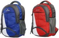 Good Friends New Festive Season 2018 School Bag Pack Of 2 Waterproof School Bag(Red, Blue, 30 L)