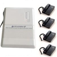 View GRD Diplomat EPABX 104 Intercom System and 4 Beetel Phone set Corded Landline Phone(Black) Home Appliances Price Online(GRD)