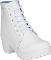 FASHIMO Women Casual Boots For Women(White)