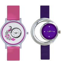 Talgo New Arrival Red Robin Season Special RR301PK280PL New Latest Collection Beautiful Designer DialMore Pink Rubber Strep & White Round Dial-301 And Purple Rubber Strep & Purple Round Dial Branded Multi Color Awesome Looks Best Offer in Deal Classical Combo RR301PK280PL Watch  - For Girls