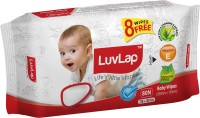 LuvLap Paraben Free Baby Wet Wipes with Aloe Vera – (72 Wipes + 8 Wipes Free)(80 Pieces)