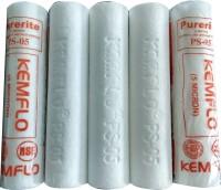 kemflow Pokar RO 5 pcs 10 inch, 5 micron PP SPUN Pre Filter + 1pcs Spanner Suitable of all RO Water Purifier Tap Mount Water Filter