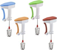 Fashion Rokz Power Free Hand blender Set of 4 0 Hand Blender(Blue, Orange, Green, Brown)