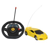 Kanchan Toys Racing Steering Wheel Remote Control Car For Kids(Yellow)
