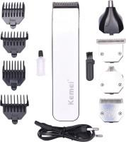 Kemei KM 3580 4 IN 1 Cordless Grooming Kit for Men(White)