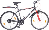 Atlas Axton Urban Sports City Bike For Adults Matt Black&Red 26 T Single Speed Mountain Cycle(Multicolor)