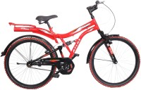 Atlas Sketch Dual Suspension Sports Bike For Adults Red&Black 26 T Single Speed Mountain Cycle(Multicolor)