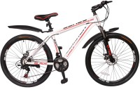 LUMALA Blade 104 Bike For Adults White 26 T 21 Speed Mountain Cycle(White, Red)