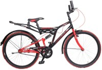 Atlas Aquafire Rear Suspension Bike For Adults Black&Red 26 T Single Speed Mountain Cycle(Multicolor)