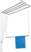 Best 4U 3 PIPES 4 FEET LUXURY Stainless Steel Floor Cloth Dryer Stand(Silver)