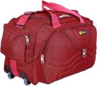 Inte Enterprises (Expandable) red699 Duffel Strolley Bag(Red)