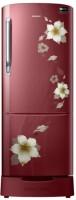 Samsung 212 L Direct Cool Single Door 4 Star Refrigerator(Star Flower Red, RR22N383ZR2/HL)   Refrigerator  (Samsung)