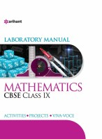 Laboratory Manual Mathematics Class Ix - Includes Activities, Projects and Viva - Voce(English, Paperback, unknown)
