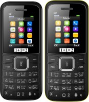 1+1=2 D2 Dual Sim Combo of Two Mobile(Black, Black Yellow) - Price 1119 30 % Off