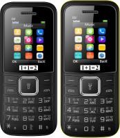 1+1=2 D2 Dual Sim Combo of Two Mobile(Black, Black Yellow)