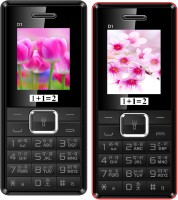 1+1=2 D1 Dual Sim Combo of Two Mobile(Black, Black Red)