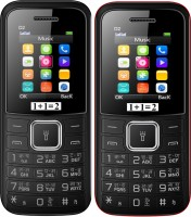 1+1=2 D2 Dual Sim Combo of Two Mobile(Black, Black Red) - Price 1119 30 % Off