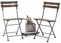 Urban Ladder Masai Patio Chairs - Set of one (Teak Finish) (Colour : black) Metal Outdoor Chair(Teak)