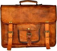 View ALBORZ 14 inch Laptop Messenger Bag(Brown) Laptop Accessories Price Online(ALBORZ)