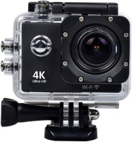 Skytrack 4K WIFI Sports Action Camera Ultra HD Waterproof DV Camcorder 16MP 170 Degree Wide Angle With Lavalier Noise Cancelling 3.5mm Body Only Sports & Action Camera(Black)