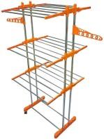 Lakshay 002 Stainless Steel, Carbon Steel Floor Cloth Dryer Stand(Orange, Blue)