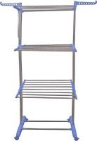 lakshay 001 Steel Floor Cloth Dryer Stand(Orange, Blue)
