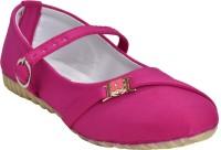 Leatherwood1 Girls Slip on Ballerinas(Pink)