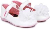 Barbie Girls Velcro Ballerinas(White)