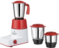 Maxstar MG11 Champ 500 W Mixer Grinder(Red, White, Stainless Steel, 3 Jars)