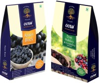 Oosh Seedless Black Raisin 250g & Whole Dried Cranberry Blueberry Mix 200g ( Total 450g) | Premium Dry Fruits | Gifting Ideas Blueberry, Raisins, Cranberries(2 x 225 g)