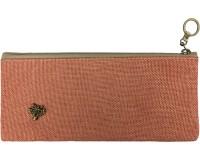 Bag of Small Things Stylish Plain Art Canvas Pencil Box(Set of 1, Orange)