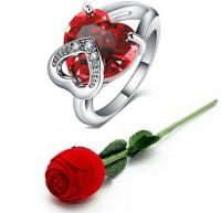 Jewels Galaxy Valentine Rings Alloy Cubic Zirconia, Crystal Platinum Plated Ring