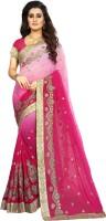 Vaidehi Fashion Embroidered Bollywood Georgette Saree(Multicolor)