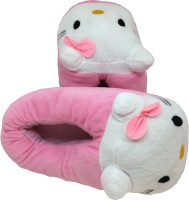 Apple Hello Kitty Plush Home Slippers Unisex Slippers