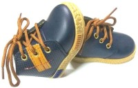 Hyfex Boys Lace Casual Boots(Dark Blue)