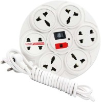 hitler germany Branded Extension Board / Power Strip 6 Amp 8 Plug Point with Master Switch, LED Indicator, International Sockets, Extension Cord(2.8 Meter)-White 8 Socket Surge Protector(White)